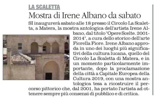 Il Quotidiano della Basilicata 14 novembre 2014