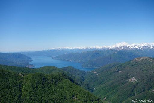 Il Lago Maggiore dalla Capanna Meriggetto