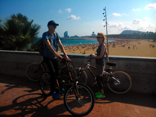 Bamboo Bike Tour at the Barceloneta Beach, Barcelona