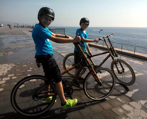 Bamboo Bike Tour at the Barceloneta Beach and Hotel W, Barcelona