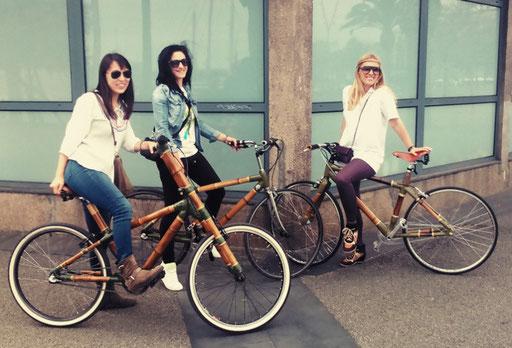 Bamboo Bike Tour at Moll de Fusta, Barcelona