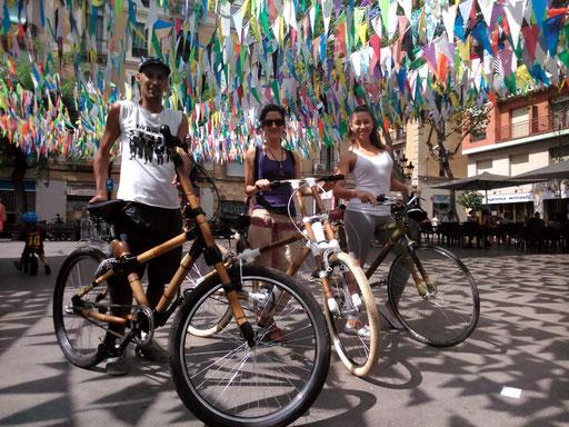 Bamboo Bike Tour at Vila de Gràcia, Barcelona