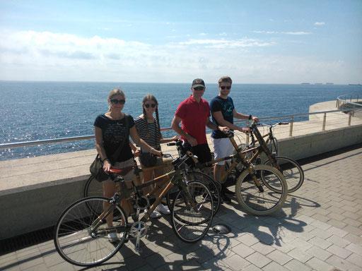 Bamboo Bike Tour at the seaside of Barcelona