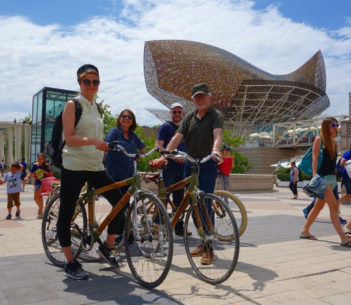 Bamboo Bike Tour at the Olympic Fish, Barcelona