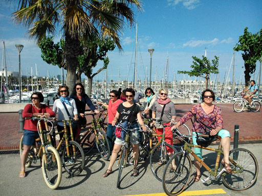 Bamboo Bike Tour at the Port Olímpic, Barcelona