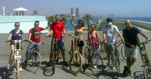 Bamboo Bike Tour at Hotel W in Barcelona