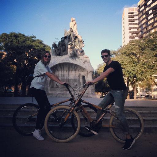 Bamboo Bike Tour at the Plaça Tetuan, Barcelona