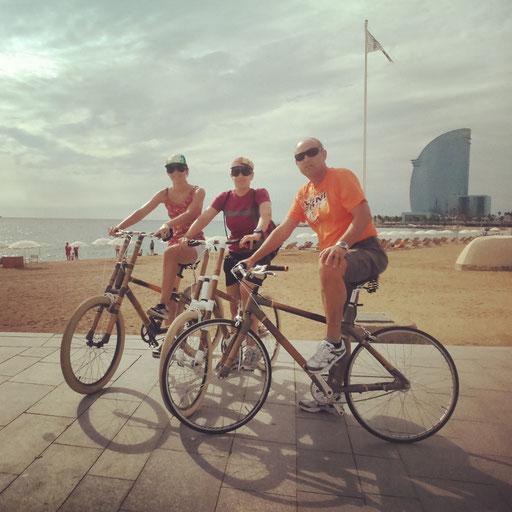 Bamboo Bike Tour at the Barceloneta Beach, Barcelona