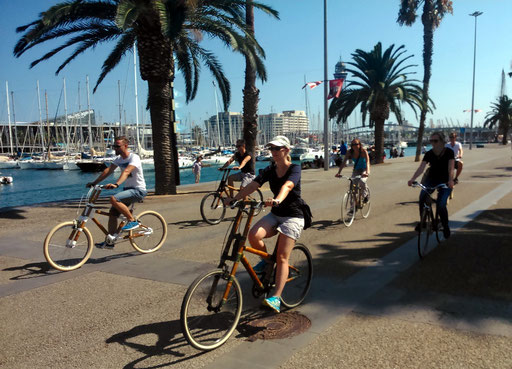 Bamboo Bike Tour at the Port Vell / Moll de la Fusta, Barcelona