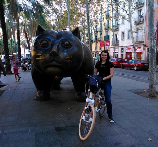 Bamboo Bike Tour at the La Rambla del Raval, Barcelona