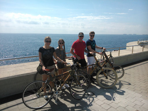 Bamboo Bike Tour at the seaside of Barcelona