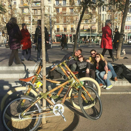 Bamboo Bike Tour at the Rambla, Barcelona