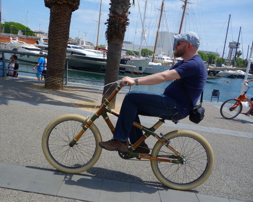 Bamboo Bike Tour at the Moll de Fusta, Barcelona