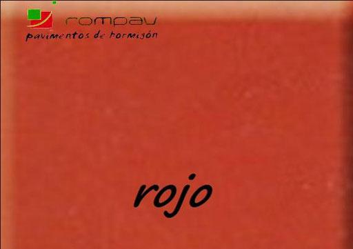 hormigon pulido rojo