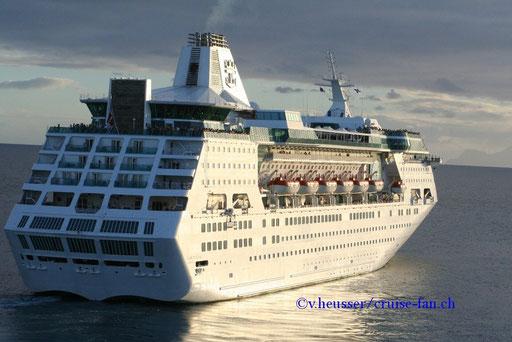 Empress of the Seas verlässt La Romana