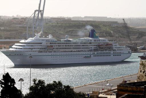 MS Amadea in Valletta/Malta