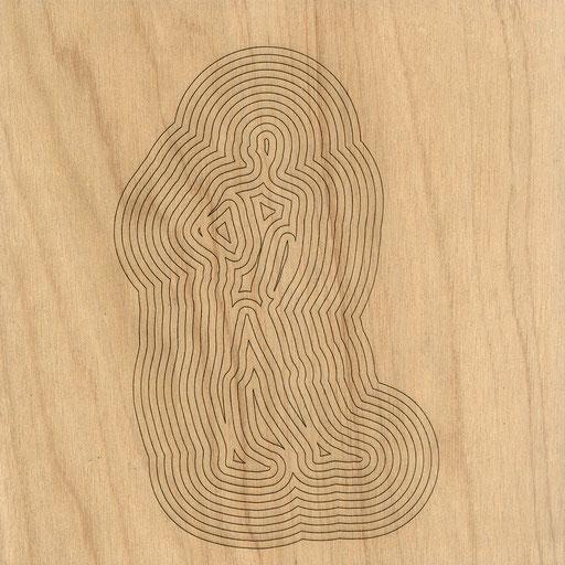 W3L4Y17S900 (1), marine plywood, 2017, 30x30cm