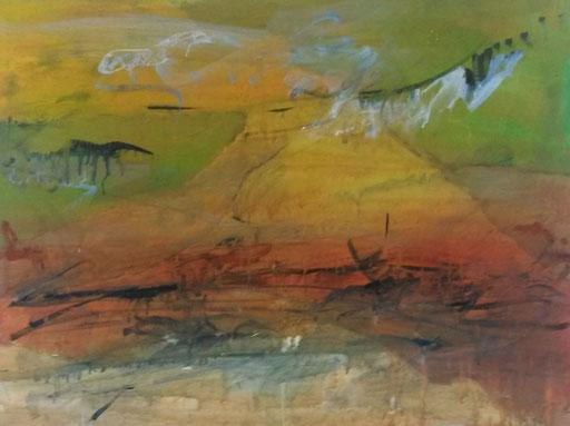 Asciano , 2017, Acryl auf Leinwand 60x80