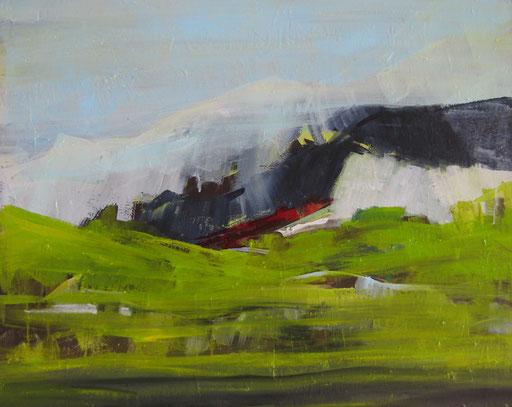 Thule, 2015, Acryl auf Leinwand, 80x100 cm