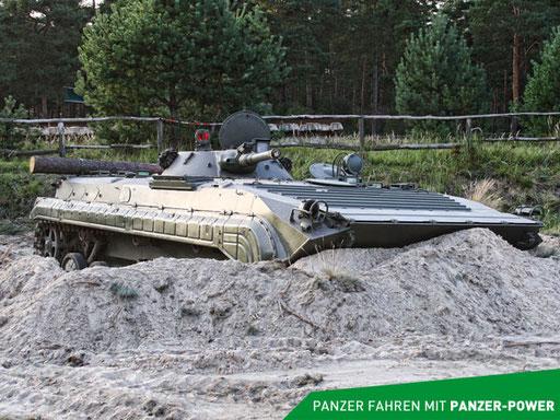 BMP-1 Panzer in Stellung