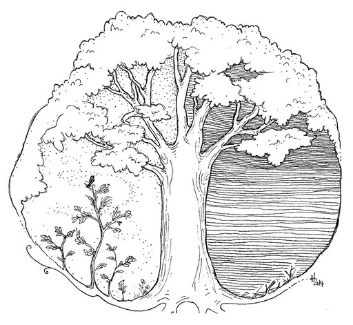 Welt eines Baumes - Illustration zu einer Geschichte meiner Schwester