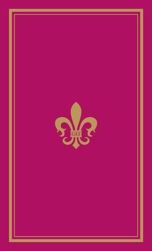 名刺兼ショップカードデザインスタイリスト赤紫