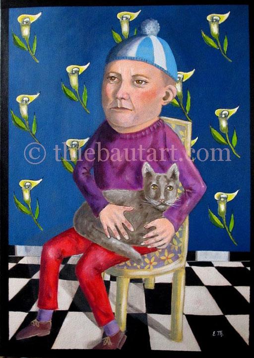 Acrylique sur toile, 50 x 70 cm - VENDU -