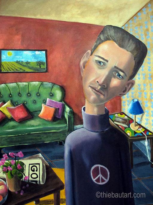 """""""Peace"""", Acrylique et huile sur papier Fabriano 400 grammes, 50 x 70 cm"""