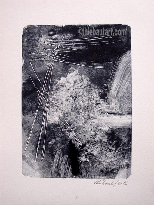 Monotype sur papier Canson 180 grammes, signé et daté. Taille de l'image: environ 15 x 21 cm sur papier 21 x 30 cm