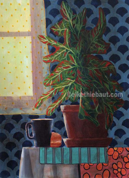 """Morning Light"", acrylique sur papier Fabriano 400 grammes, 36 x 48 cm  - VENDU/SOLD -"