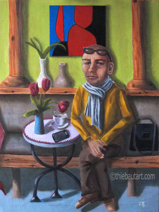 """""""Vasarely was here"""", Acrylique et huile sur châssis entoilé, vernis. Initiales devant, description, date, tampon de l'artiste et signature au dos. - VENDU/SOLD -"""