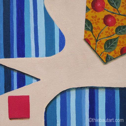 Acrylique sur panneau HDF recouvert d'une toile de coton apprêtée, 20 x 20 cm