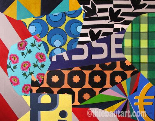 Abstrait N° 380, Acrylique sur châssis entoilé, 80 x 100 cm, 2015