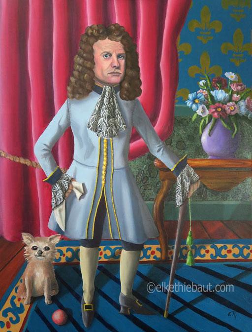 """""""Le Petit Prince"""", acrylique et huile sur toile, 60 x 80 cm"""