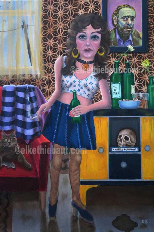 """""""Pauvre Jane"""", acrylique et huile sur toile, 7 x 100 cm  - V E N D U/ S O L D  -"""