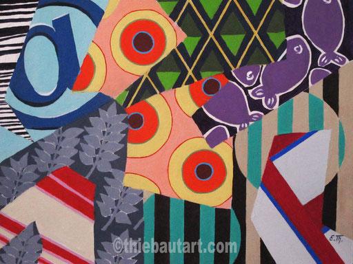 Abstrait N°378,  Acrylique sur panneau HDF, 40 x 50 cm, 2015