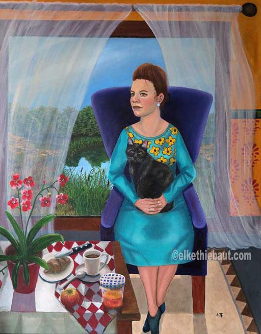 """""""Just Peace"""", acrylique et huile sur toile, 80 x 100 cm"""