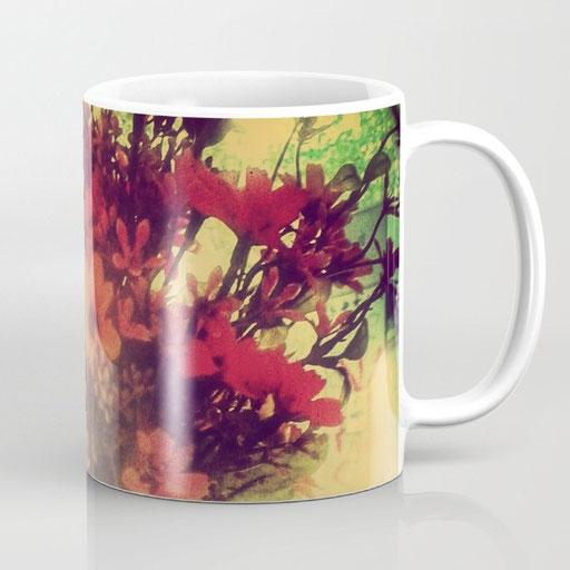 Shop Mugs, Vintage Flowers of August by Victoria Herrera