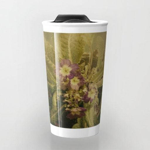 Shop Travel Mugs, Little Winter Flower by Victoria Herrera