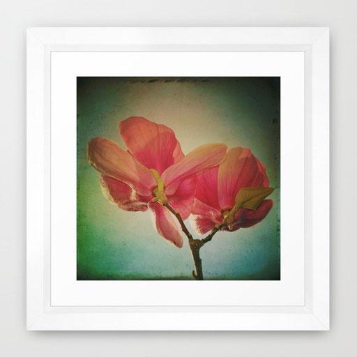 Framed Art Print, Vintage Spring Flowers