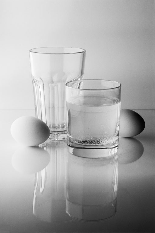 Still life with eggs - homage to Josef Sudek