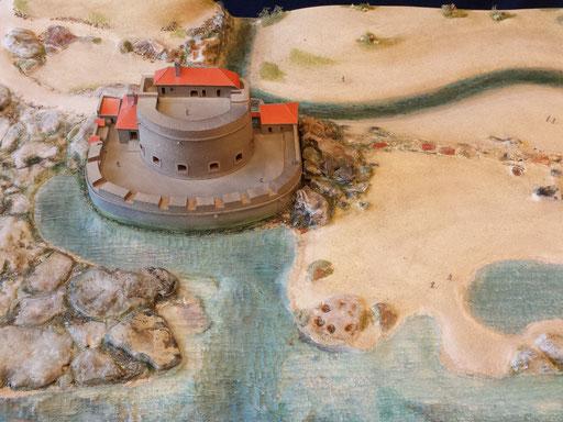 Maquette du Fort d'Ambléteuse 1940 réalisation Hervé Arnoul