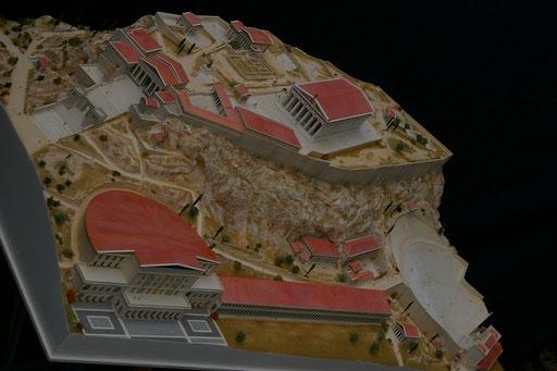 Huet Holdings, reconstitution de L'Acropole d'Athènes au  IIme s après JC 1/200e Réalisation Hervé Arnoul