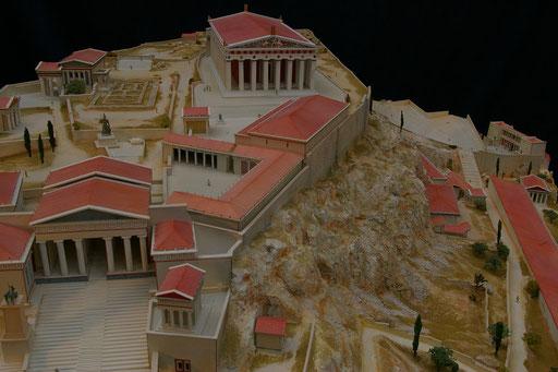 Huet Holdings, reconstitution de L'Acropole d'Athènes au  IIème s après JC 1/200e Réalisation Hervé Arnoul