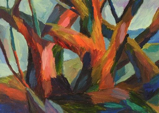 Bäume, 35x50cm