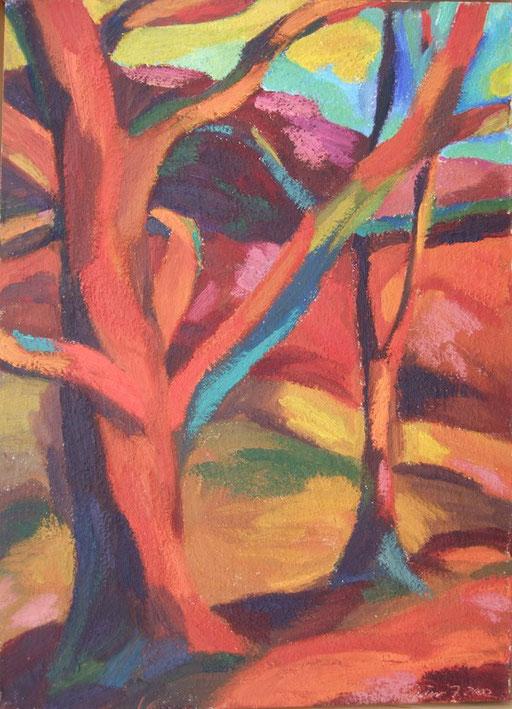 Roter Baum, 50x35cm