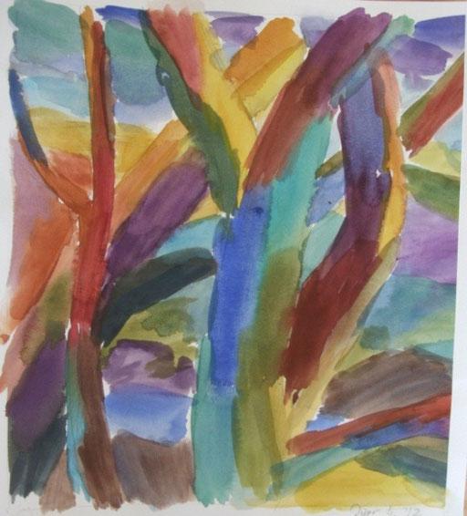 Bäume, 36x32cm