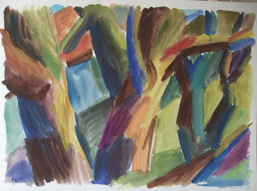 Amsterdam Bäume, 36x50cm