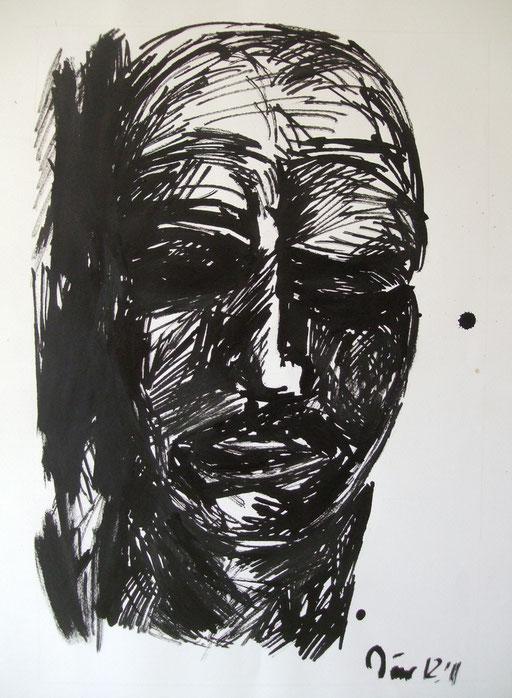 Kopf, 70x45cm