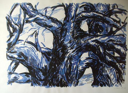 Geäst Tusche+Tinte, 50x70cm